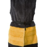Fendi colour block fur gilet
