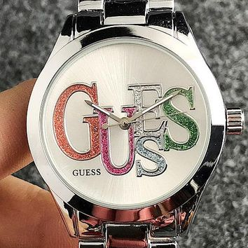 GUESS 2019 new trend simple men and women models quartz watch 3