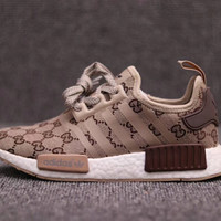 ADIDAS GUCCI NMD R1 Fashion and leisure sports shoes