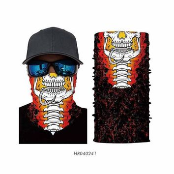 Seamless Bandanas Ghost Skull Tube Neck Warmer Face Mask Head Scarf Headband Headwear bandana outdoor sports cycling Halloween