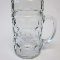 Huge 1 Liter Glass Beer Mug