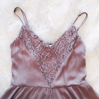 A Boho Fairy Sundress in Mocha