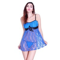 Women's Lace Flair Chemise Sexy Sleepwear Babydoll Lingerie