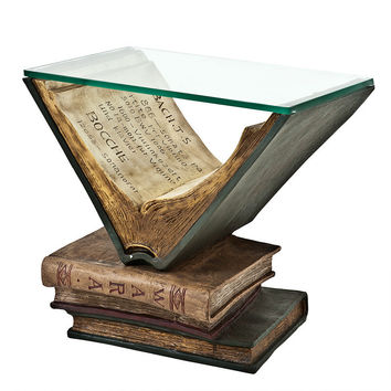 Glass Side Table | Eichholtz Old Books