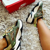 Nike M2K Tekno Fashionable Women Men Retro Sport Running Shoes Sneakers Green I/A