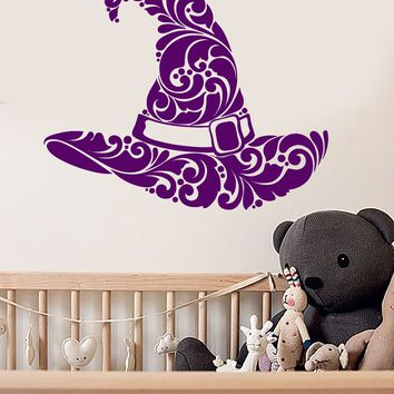 Vinyl Wall Decal Wizard Magician Magic Hat Illusionist Nursery Room Stickers (2721ig)