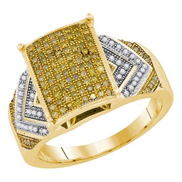 Ladies 10KT Yellow Gold Canary Yellow Diamond Engagement Bridal Ring 0.45CTW