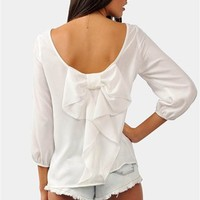 Waldorf Bow Blouse - White
