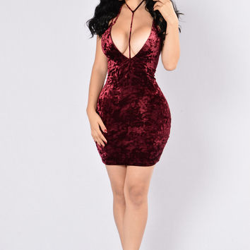 Laters Baby Dress - Wine