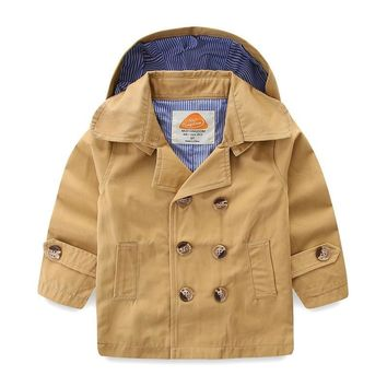 Trendy Mudkingdom Boys Coats Double-breasted Kids Hooded Jackets Spring Windproof Thermal Tops Children Clothing AT_94_13
