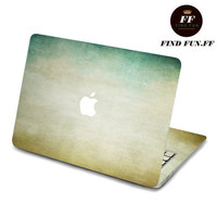 Back cover of decal Macbook Air Sticker Macbook Air Decal Macbook Pro Decal 蓝黄-062