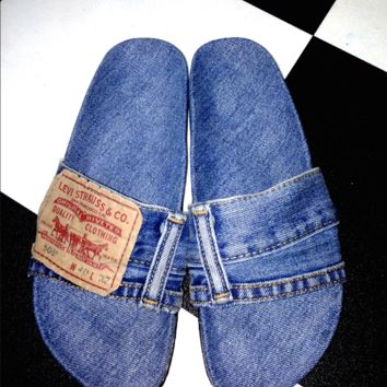 SWEET LORD O'MIGHTY! OG DENIM SLIDES