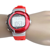 New Arrival Calorie Burned Heart Rate Pulse Sport Watch Wristwatch Red