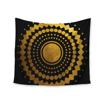 "Matt Eklund ""Gilded Confetti"" Gold Geometric Wall Tapestry"