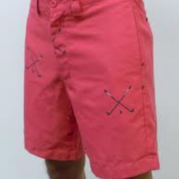 Stanwich Active Fit Short in Red by Liquid Flow