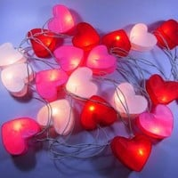 Sale Price and Get Tissue Box Free!!!(3cm.*5cm)(heart)20 New Multi Design Color Chinese Paper Lantern Fairy String Lights Patio Party(madeinthailand)