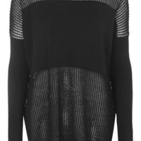 TALL Clean Mesh Panel Jumper - Black