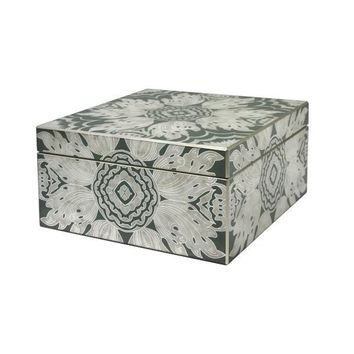 Large Reverse Painted Mirror Box