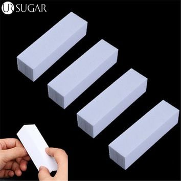 4Pcs/Lot Sanding Sponge Nail File Buffer Block for UV Gel Nail Polish DIY Nail Art Manicure Pedicure White Nail Buffers File