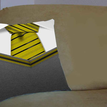 Hufflepuff Tie Harry Potter - Pillow Case, Pillow Cover, Custom Pillow Case **
