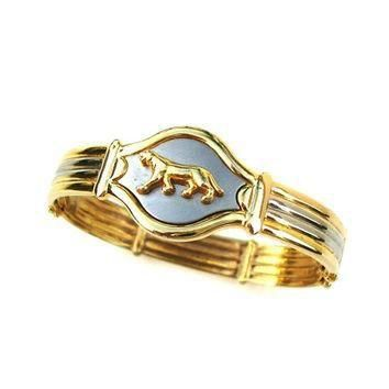 Vintage Jewelry Panther Cuff Bracelet Gold Silver Metal Women Designer Fashion Cartier