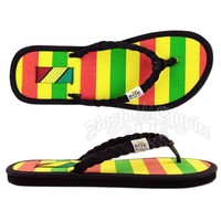 Bob Marley Natty Rasta Striped Sandals - Women's @ RastaEmpire.com