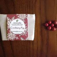 Cranberry Fig Goat Milk Soap - Delicious scented soap. Perfect hostess gift, stocking stuffer Holiday Gift