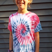 Patriotic Red White and Blue Tie Dye for Kids, Kids Medium rwb t-shirt, America, USA, American pride, July 4th, July fourth Independence Day