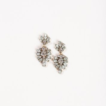 Talia Silver Crystal Earrings