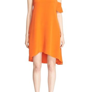 3.1 Phillip Lim Cutout Ruffle Sleeve Silk Dress | Nordstrom