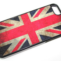 NEW iPhone 5 Case Cover with Union Jack  UK Flag London and Shiny Texture - Very Unique