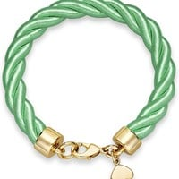 kate spade new york Gold-Tone Charm and Bud Green Learn the Ropes Bracelet