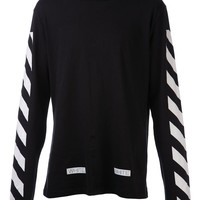 Off-White striped sleeve t-shirt