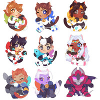 (PREORDER) Voltron - Kitten Charms by cuppacats
