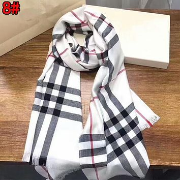 Burberry Autumn Winter Fashionable Women Men Classic Plaid Cashmere Cape Scarf Scarves Shawl Accessories