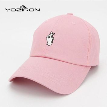 PEAPON Fashion Cotton Hand ROSE OK Love Gestures Finger Snapback Hats Baseball Caps For Men W
