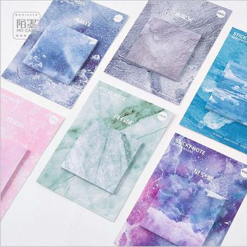 30Pages/Pack Nature Dream Color Swatch Memo Pad Self-Adhesive Sticky Notes Post It Bookmark Message note Sketch Pad Escolar