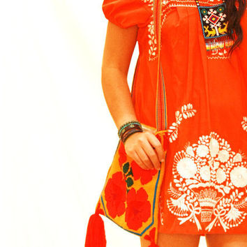 Tangerine dreams Mexican bohemian ethnic by AidaCoronado on Etsy