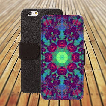 iphone 6 case Rose planet mandara colorful iphone 4/4s iphone 5 5C 5S iPhone 6 Plus iphone 5C Wallet Case,iPhone 5 Case,Cover,Cases colorful pattern L500