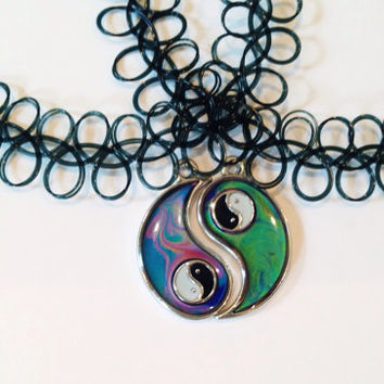 Yin Yang Mood Friendship Necklaces