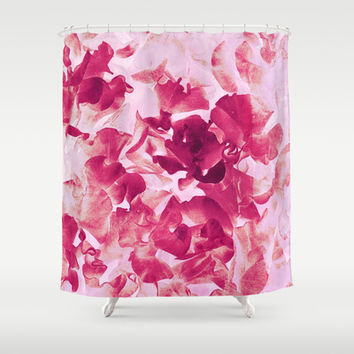 sweet peas variation Shower Curtain by Clemm