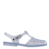 Gladiator Jelly Clear Glitter Sandals