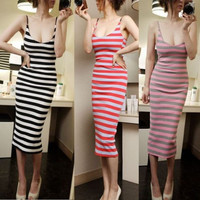 Women's Casual Striped Dress