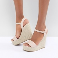 Glamorous Patent Espadrille Wedge Sandals at asos.com