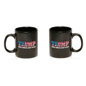 Donald Trump President MAGA USA US American Flag America Coffee Mug 11oz