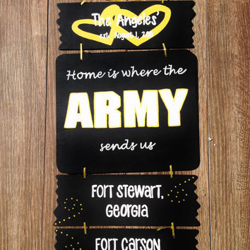 Hand Painted Military Wooden Sign - Customized Order