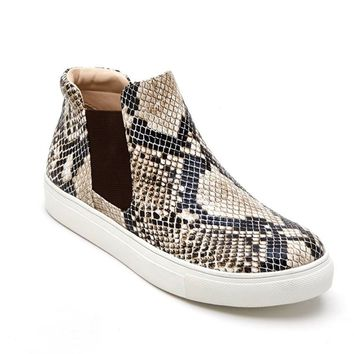 Coconuts by Matisse Harlan Natural Snake Fashion Sneakers