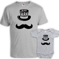 Matching Father Son Shirts Daddy And Me Outfits Father Son Matching Shirts Father And Son Gift Big Man Little Man Bodysuit MAT-760-761