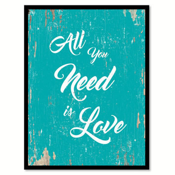 All You Need Is Love Happy Love Quote Saying Home Decor Wall Art Gift Ideas 111675