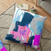'Untitled' Floor Pillow by HaloCalo